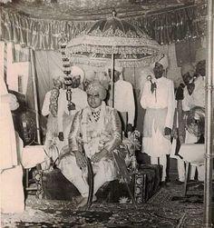 जोधपुर महाराजा हनुवंत सिंह जी राठौड़ के राजतिलक समारोह का दृश्य