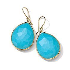 """18K Gold Rock Candy Gelato Large Teardrop Earrings=Length: 1.61"""", Width: 0.86=1,795.<3"""