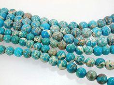 Green Impression jasper, round, Sea sediment jasper, Gemstone beads by Susiesgem on Etsy