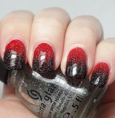 The Mercurial Magpie - Nail Art - Goth Roses