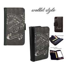 harry potter leather wallet case for iphone and galaxy I solemnly swear that i am up to no good
