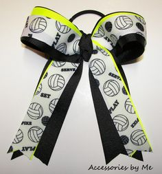 Volleyball Hair Bow 12 pc team package These are so cute! We should make some like these! @Olivia Lesak