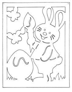 "húsvéti filigránok - Fodorné Varkoly Mária - ""Picasa"" žiniatinklio albumai Bunny Crafts, Easter Crafts For Kids, Preschool Crafts, Kirigami Patterns, Easter Bunny Template, Bunny Templates, Birthday Chart Classroom, Decoupage, Stencils"