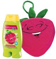 NATURALS KIDS Swirling Strawberry Body Wash & Bubble Bath with matching Sponge! Regularly $6.99, buy Avon Naturals online at http://eseagren.avonrepresentative.com