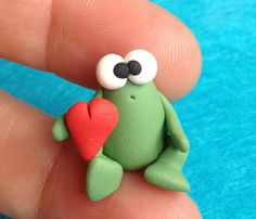 Mr Frog Ranocchietto Verde  A Little Polymer Clay di bdbworld, $6,00