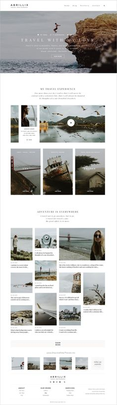 Abrillix is a stylish & modern trend #PSD template for #travel #blogger or photographers website download now➩ https://themeforest.net/item/abrillix-creative-photography-blog/19154420?ref=Datasata