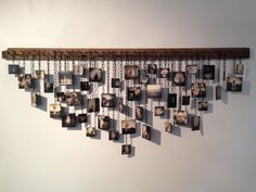 assemblage — Lori Vrba - Memoir Wednesday, April 2013 at Encaustic tiles with vintage piano bridge. Picture Wall, Picture Frames, Photo Wall, Trash Art, College Dorm Decorations, Photography Exhibition, Encaustic Tile, Book Folding, Assemblage Art