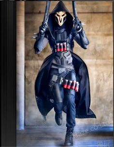 Overwatch Reaper Cosplay Costume with Props Great   eBay