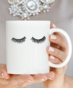 Look what I found on #zulily! Eyelash Coffee Mug #zulilyfinds