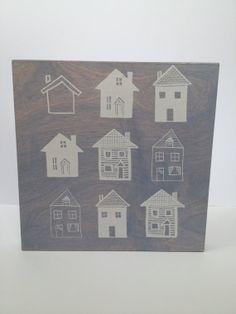 Houses Print on Wood