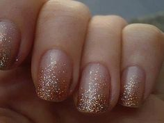 Love this simple glitter ombre nail look. 63 Stunning Winter Wedding Nails Ideas   HappyWedd.com