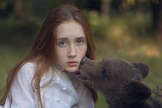 More Gorgeous Portraits of Women with Wild Animals by Katerina Plotnikova - My Modern Met