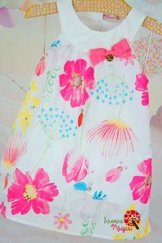 Vestido Infantil Joaninhas Coloridas Mon Sucré Girls Dresses, Summer Dresses, Kids Prints, Stitching, Africa, Flowers, Fashion, Infant Dresses, Girl Swag
