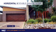 "The custom Horizontal 5A is a meranti Horizontal Slatted garage door with an extra ""V' style trim, from our Timba-dor™ Range, which adds an architectural statement that truly differs from most timber garage doors. Add the d-force™ Automatic Overhead Garage Door Opener for that extra convenience and safety. www.doorzonesa.com"