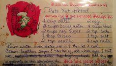 Mom's Date nut bread