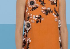 Orange & embroidery from Finery