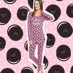 Pijama legging com estampa de cookies www.joge.com.br