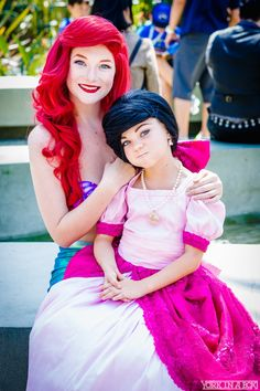 Ariel (Ashlynne Dae) and Melody Miley Romero from Disney's The Little Mermaid — #YorkInABox #WonderCon2015