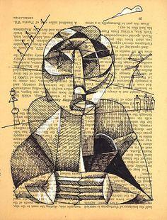 Naum Gabo constructed head