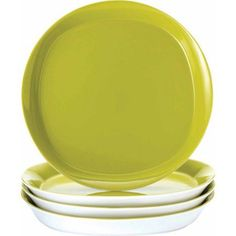 Rachael Ray Round and Square Dinner Plates, Set of 4, Green