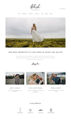 10 Squarespace example websites for inspiration • photographer edition — The Paige Studio • Squarespace Website Designer