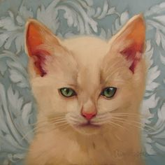"""Killer"" by Diane Hoeptner, Oil on wood, 8"" x 8,"" sold."