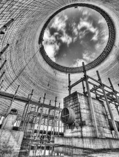 Cooling tower of the fifth power Chernobyl Chernobyl Nuclear Power Plant, Chernobyl Disaster, Ghost City, Ghost Towns, Interesting Buildings, Interesting History, Abandoned Buildings, Abandoned Places, Nuclear Apocalypse