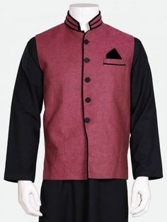 Traditional Waist Coat designs are the upper coat type thing that men usually wears on shalwar kameez on festive occasions these are designed by Eden Robe. Types Of Coats, Shalwar Kameez, The North Face, Traditional, Jackets, How To Wear, Men, Dresses, Design