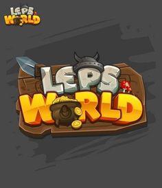 Lep's World - Game Title Bg Design, Game Logo Design, Video Game Logos, Video Games, Gui Interface, Game Font, 2d Game Art, Game Title, Cartoon Logo