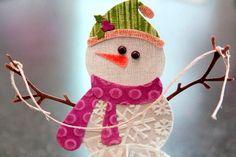 Снеговик из картона своими руками | 33 Поделки | Яндекс Дзен