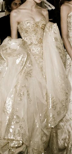 Zuhair Murad-a beautiful wedding gown with lots of style and bling.