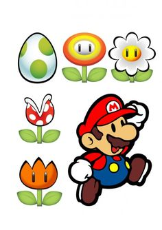 Pin Super Mario Bros Birthday Party Supplies 300x300 Jpg ...