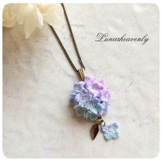 Lunar.h 紫陽花のネックレス ¥3,000