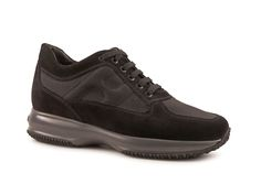 Hogan shoes interactive in black suede leather - Italian Boutique €172