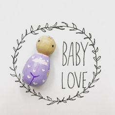 This listing is for one custom baby peg doll made to look like your precious new addition.