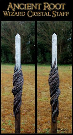 Ancient Root Wizard Crystal Magic Staff
