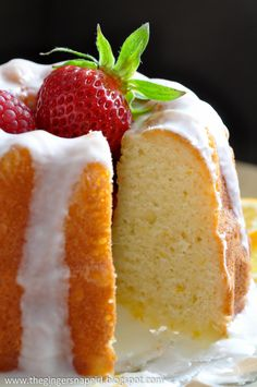 Glazed Meyer Lemon Buttermilk Cake