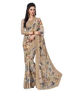 4a7e3720e7e Satthwa Outfits · Floral Print Saree ·  indain  Shangrila Designer  Georgette  Saree With Blouse Piece (Kamini-9183 Multicolor Free Size