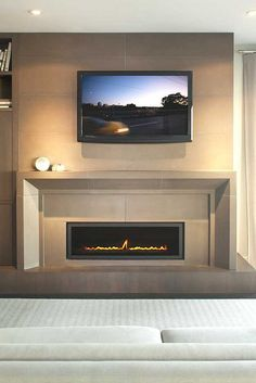 "PORT Surround and 16"" x 48"" Tile in Truffle with Exterior Lighting by Solus Decor, via Flickr"