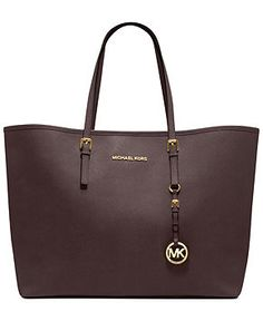 MICHAEL Michael Kors Handbag, Saffiano Medium Travel Tote - MICHAEL Michael Kors - Handbags & Accessories - Macy's