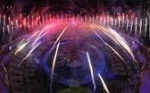 Fireworks go off over the Olympic Stadium during the opening ceremony. — Chris McGrath, Getty Images, July 27, 2012