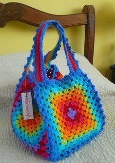 вяжем сумку из квадратов