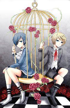 Black Butler (Kuroshitsuji) - Ciel Phantomhive x Alois Trancy - Caged by Illycia
