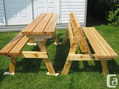 2x4 bench into picnic table | Bench That Converts to Picnic Table