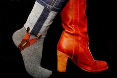 Genius! I have these, and they are fabulous for keeping pants tucked into boots... Going to do this!!