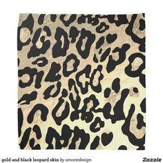 gold and black leopard skin