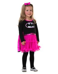 black and pink batgirl toddler costume exclusively at spirit halloween this little rule breaker will