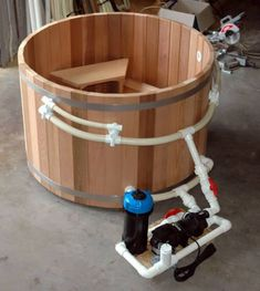 DIY Hot Tub Kit: The Material and The Instructions for Homemade Hot Tub (Outdoor Wood Hot Tubs) Hot Tub Deck, Hot Tub Backyard, Backyard Pergola, Pergola Ideas, Patio, Backyard Trampoline, Pergola Kits, Piscina Diy, Ideas De Piscina