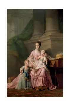 Giclee Print: Queen Charlotte (1744-181), with Her Two Eldest Sons, 1769 by Ramsay : 24x16in