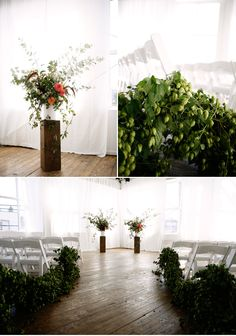 McKenzie Powell Floral and Event Design. How to bring the outdoors to an indoor ceremony
